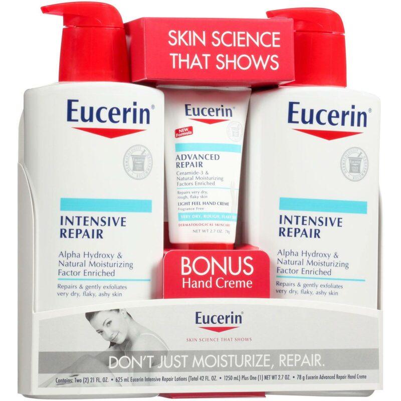 Eucerin Intensive Repair Body Lotion (21 fl. oz., 2 pk.) + Advanced Repair Hand Creme (2.7 oz.) in Nigeria
