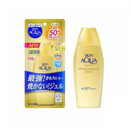 Skin Aqua Super Moisture Gel Gold Sunscreen SPF 50+/PA++++ (110g) Gold Unscented | Buy in Nigeria